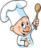 De greep houten lepel van de chef-kok vector illustratie