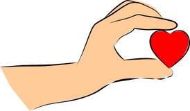De greephart van handen vector illustratie
