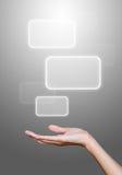 De greepmedia van de hand pictogrammen Stock Foto