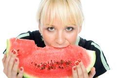 De greepwatermeloen van Blondy royalty-vrije stock afbeelding