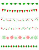 De Grens/de verdeler van Kerstmis Stock Afbeelding