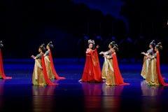 De grens douane-vier handeling ` belemmerde inklaring ` - Epische de Zijdeprinses ` van het dansdrama ` royalty-vrije stock afbeelding