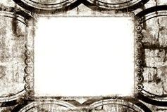 De grens en de achtergrond van Grunge Stock Afbeelding