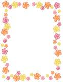 De grens/het frame van de bloem Stock Foto