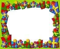 De Grens of het Frame van de Giften van Kerstmis van Cartoonish Stock Foto