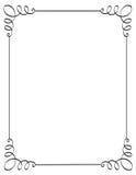 De grens/het frame van de uitnodiging Stock Afbeeldingen