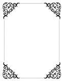 De grens/het frame van de uitnodiging Royalty-vrije Stock Afbeeldingen
