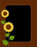 De grens/het frame van de zonnebloem royalty-vrije illustratie