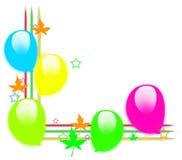 De grens van ballons Stock Fotografie