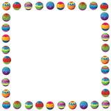 De grens van beeldverhaalkerstmis - illustratie voor de kinderen Stock Afbeelding