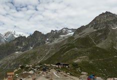 De grens van de Alpen, Frankrijk Italië, 29 Juli 2017 - Spectaculaire mening t Stock Fotografie
