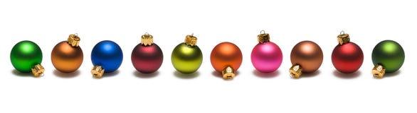 De Grens van de Ballen van Kerstmis Royalty-vrije Stock Foto
