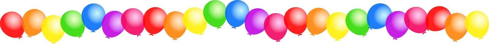 De grens van de ballon Stock Afbeelding