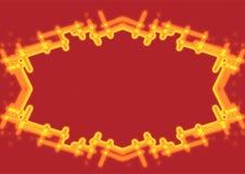 De grens van de brand vector illustratie