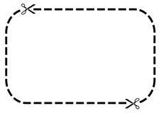 De grens van de coupon royalty-vrije illustratie