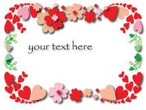 De grens van de Dag van de valentijnskaart Royalty-vrije Stock Fotografie