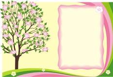 De grens van de de bloemlente van het seizoen Stock Afbeeldingen