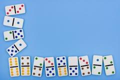 De Grens van de domino Stock Foto's