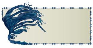 De Grens van de Golven van het water Royalty-vrije Illustratie