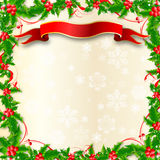 De Grens van de Hulst van Kerstmis Stock Foto