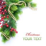 De Grens van de kerstboom Stock Afbeeldingen