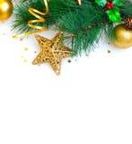 De grens van de kerstboom Stock Afbeelding