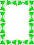 De grens van de kerstboom vector illustratie