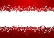 De grens van de Kerstmissneeuwvlok royalty-vrije stock foto's