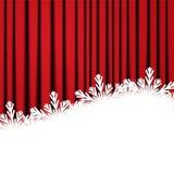 De grens van de Kerstmissneeuwvlok Stock Afbeeldingen