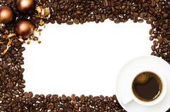 De Grens van de Koffie van Kerstmis Royalty-vrije Stock Afbeeldingen