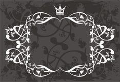 De grens van de kroon met wijnstokken royalty-vrije illustratie