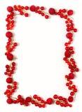 De grens van de rode aalbes royalty-vrije stock afbeelding