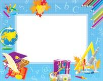 De grens van de school voor uw foto en tekst vector illustratie