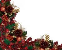 De Grens van de Slinger van de Bessen van de Hulst van Kerstmis Stock Fotografie