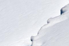 De grens van de sneeuw Stock Foto