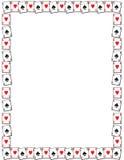De grens van de speelkaart Stock Afbeeldingen