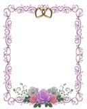 De Grens van de uitnodiging van het Huwelijk van rozen Royalty-vrije Stock Afbeeldingen