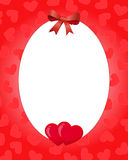 De grens van de valentijnskaart Stock Afbeeldingen