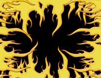 De Grens van de vlam stock illustratie