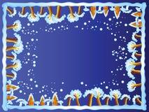 De grens van de winter (nacht) Royalty-vrije Stock Foto