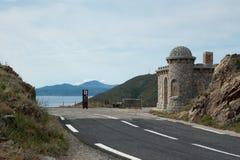 De grens van Frankrijk Spanje Stock Foto