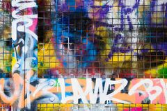 De grens van Graffiti Royalty-vrije Stock Fotografie