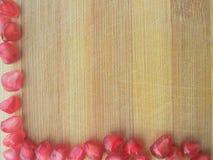 De grens van granaatappelzaden royalty-vrije stock foto