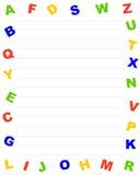 De grens van het alfabet Royalty-vrije Stock Foto