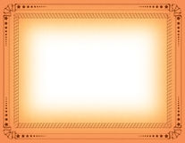 De grens van het certificaat Stock Afbeelding
