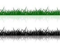 De grens van het gras Stock Foto