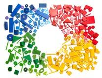 De grens van het kleurenspeelgoed stock fotografie