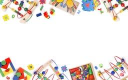 De grens van het kleurenspeelgoed Royalty-vrije Stock Afbeeldingen