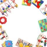 De grens van het kleurenspeelgoed Stock Afbeelding