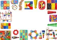 De grens van het kleurenspeelgoed stock foto's